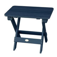 Highwood Adirondack Chair Round Folding Side Table Nantucket Blue