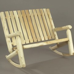 Double Rocking Adirondack Chair Plans The Empty Song Rustic Natural Cedar High Back Rocker