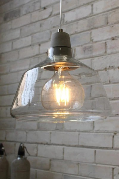 Concrete Top Glass Lights Scandinavian style with