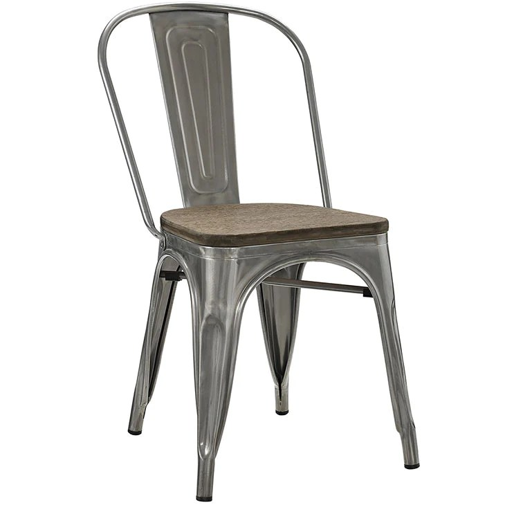 tolix side chair 135 degree angle consumer style bamboo seat gunmetal chairs