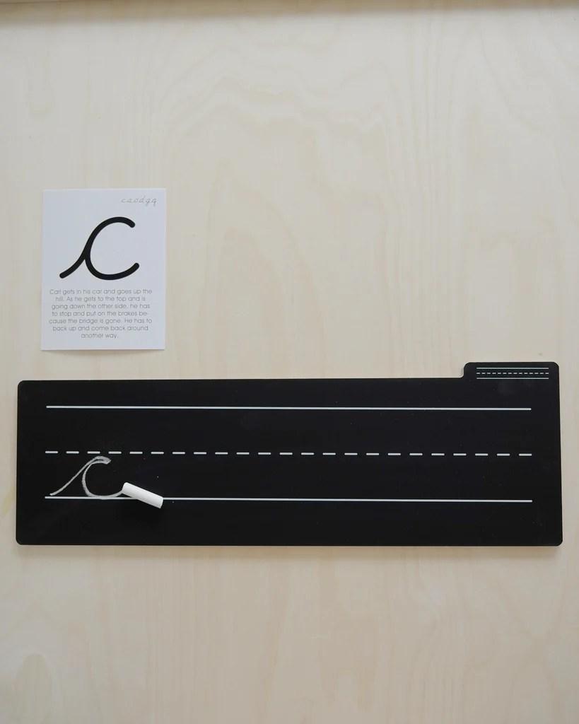 cursive boards chalk board