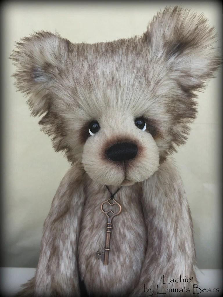 Lachie  17 skinny faux fur bear by Emmas Bears  OOAK  Furaddiction  Emmas Bears