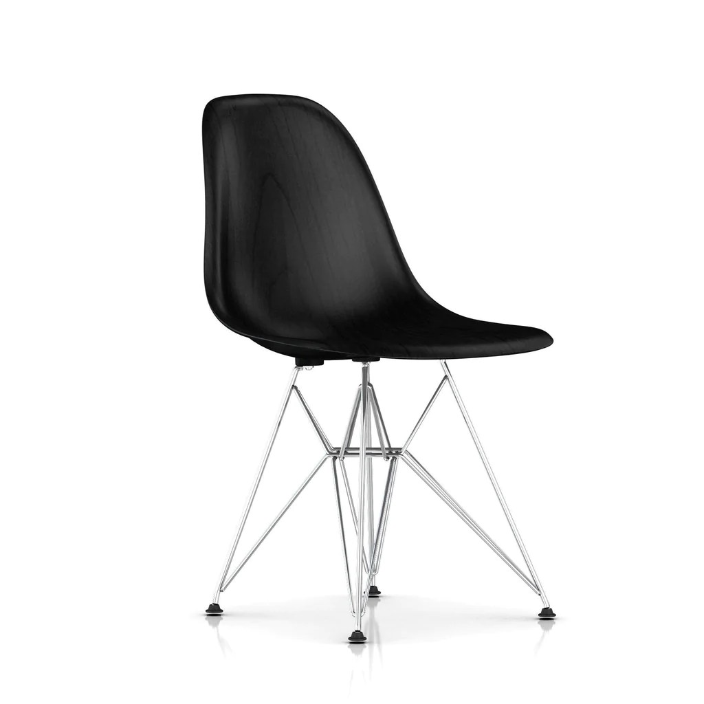 eames molded wood side chair dyeing cotton covers wire base