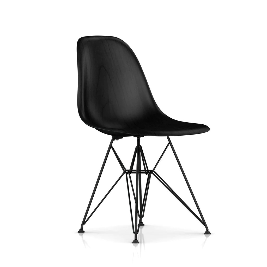 eames molded wood side chair folding junior wire base