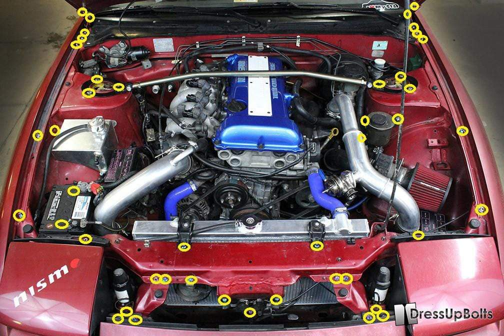 Silvia Sr20de Engine Diagram Nissan S13 240sx 1989 1995 Titanium Dress Up Bolts