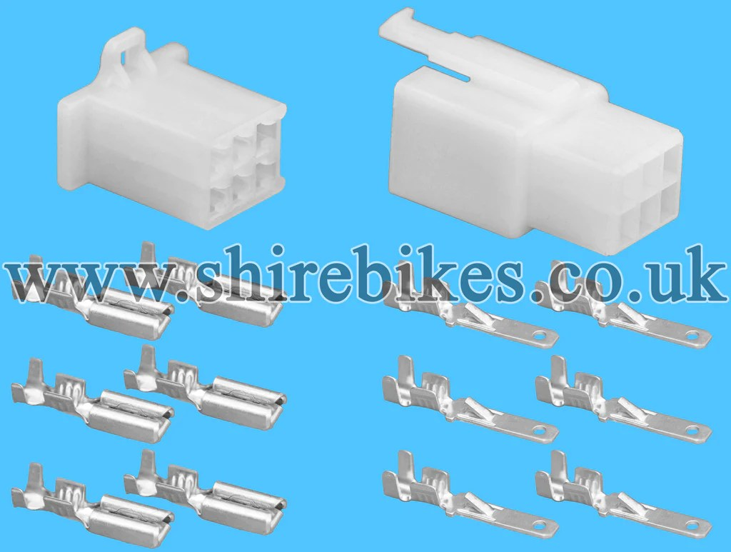 small resolution of description 6 pin block wiring loom harness connector plug