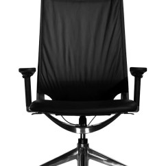 Office Chair With Adjustable Arms Desk Antique Marco Ii Ergonomic Highback Black Leather Front View