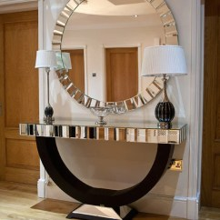 Art Deco Sofas Uk Bettsofa Interio Quartz Black Mirrored Top Console Table And Matching ...