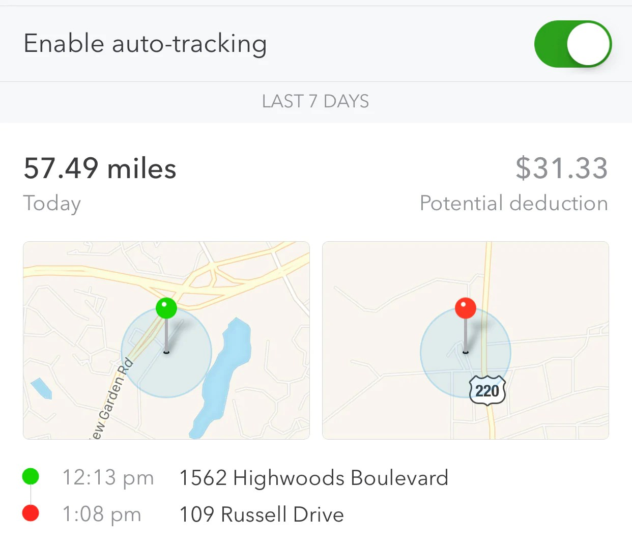 here s the part where i tell you this easy to use service is changing the game the quickbooks self employed app has a built in absolutely genius mileage  [ 1242 x 1069 Pixel ]