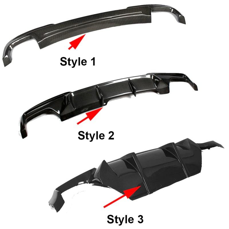 carbon fiber rear bumper lip spoilerdiffuser for bmw 5 series f10 m sport sedan 12 16 dual exhaust two out 528i 530i 535i 550i
