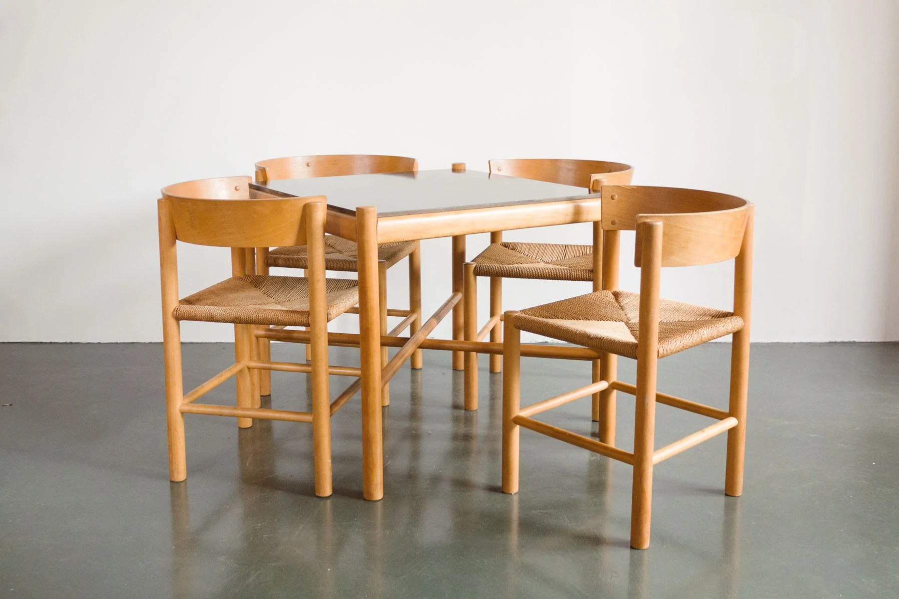 Seagrass Dining Chairs Mogens Lassen For Fritz Hansen Dining Set