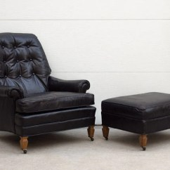 Black Chair And Ottoman Folding Chairs For Less Drexel Leather Homestead Seattle