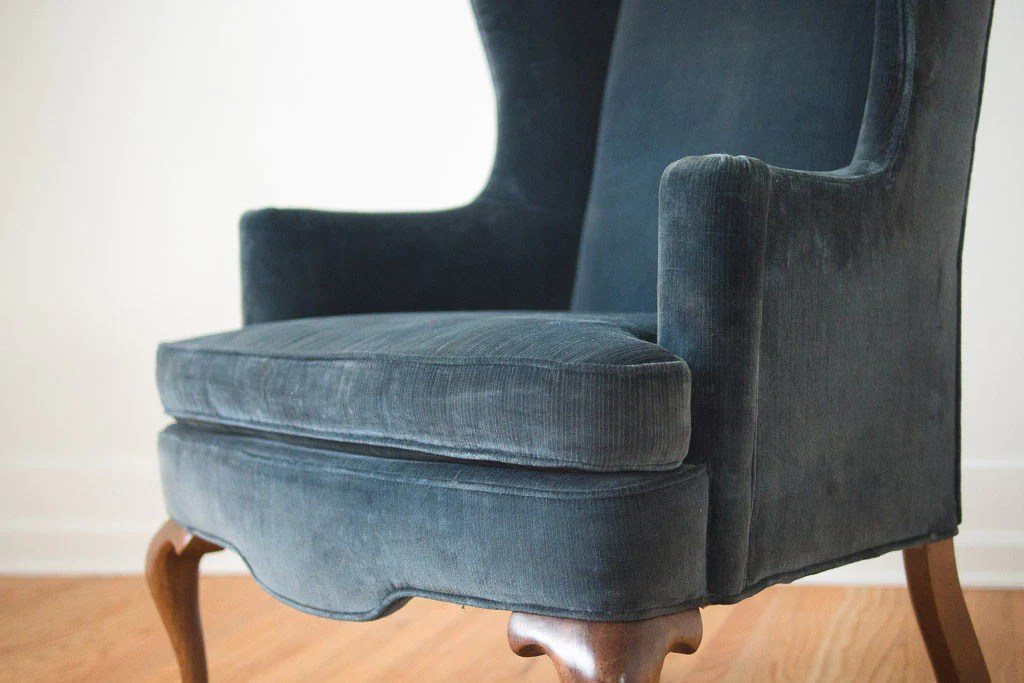 Blue Wingback Chair Navy