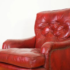 Red Leather Chair And Ottoman Covers Wedding Ivory Homestead Seattle