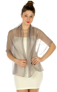 Silver, Gray Shawls  Fashion Nouveau