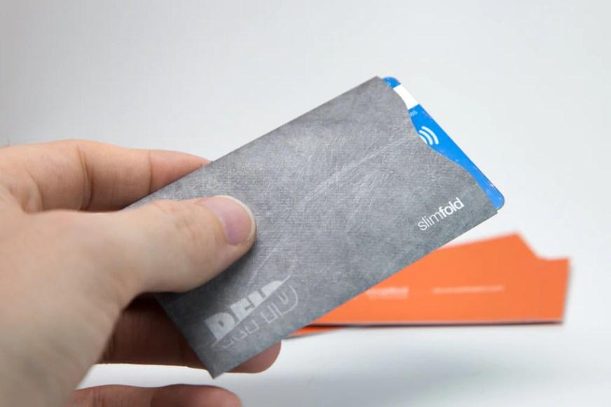 RFID Blocking Card Sleeve & Wallet Insert (2Pk) - SlimFold ...