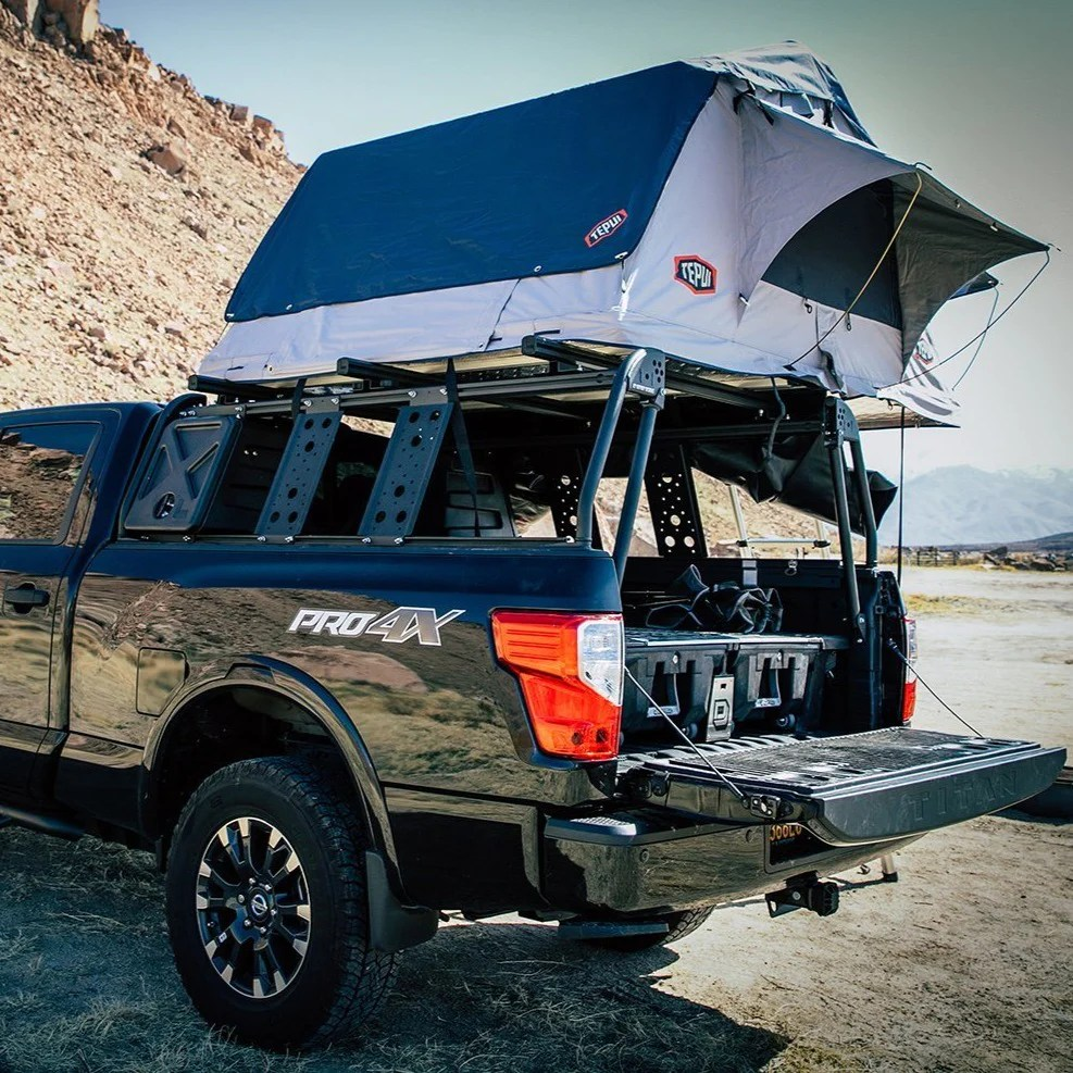 leitner active cargo system acs classic bed rack nissan frontier titan
