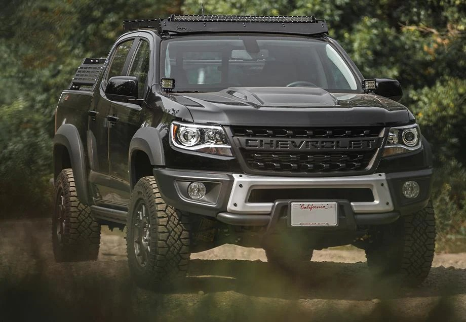 cali raised led 2012 2021 chevy colorado overland bed rack