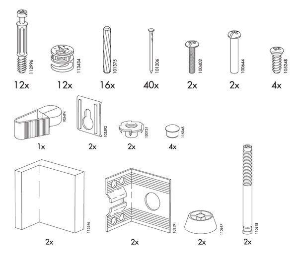 Ikea Billy Book Case Replacement Parts Furnitureparts
