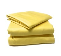 Tache 2-3 Piece Cotton Banana Yellow Bed Sheet (Fitted ...