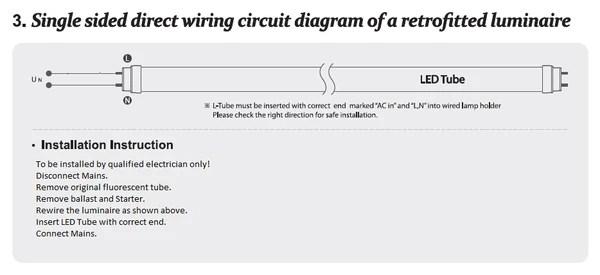 led tube installation instructions – future light  led