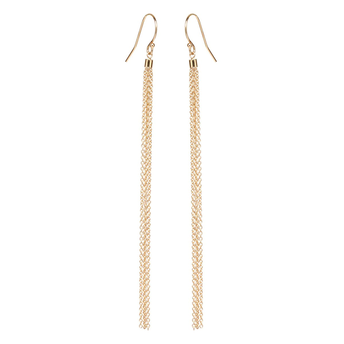 14k Lariat Long Gold Necklaces