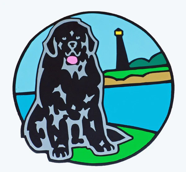 Newf Amp Lighthouse Magnet BIG Gentle Dogs