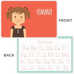 personalized laminated placemats for