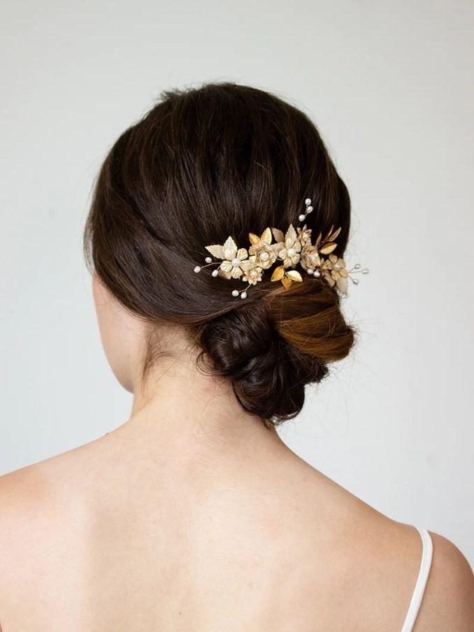 organic floral headpiece   bridal accessory   marilyn