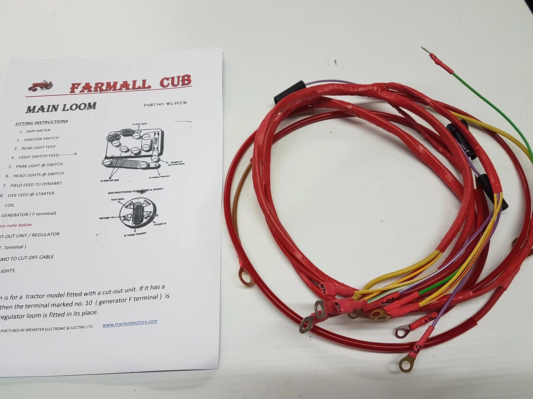 small resolution of ih farmall cub main tractor loom