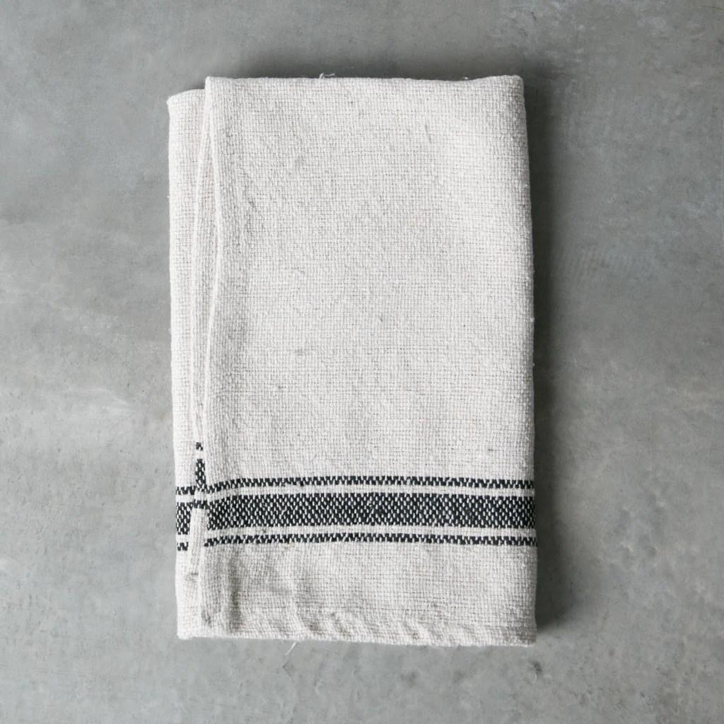 gray kitchen towels printer striped cotton towel magnolia chip joanna gaines