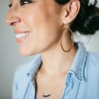 Wooden Loop Earrings | Magnolia