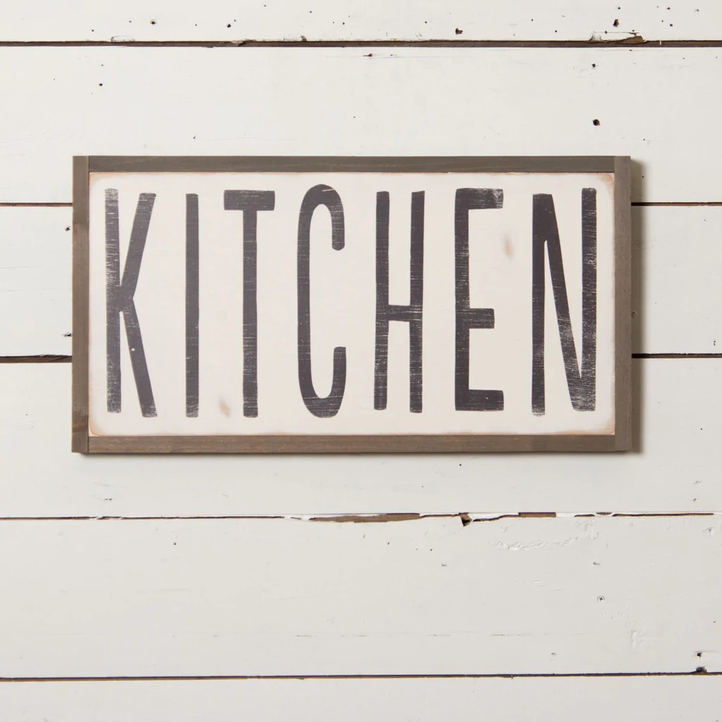 wooden signs for kitchen play toddlers quotkitchen quot sign magnolia chip and joanna gaines