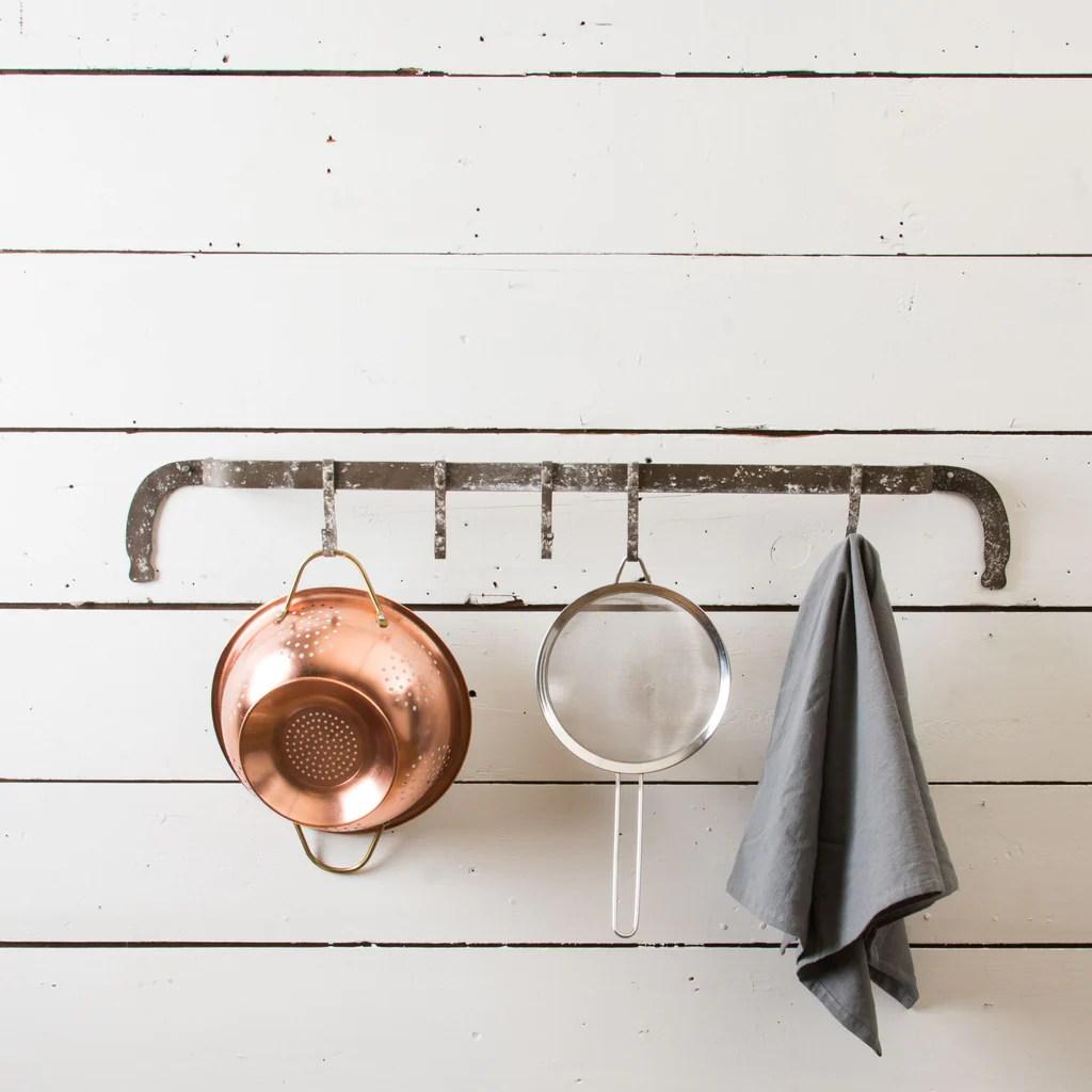 kitchen hooks small kitchens metal wall magnolia chip joanna gaines