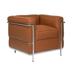 Le Corbusier Chair Swivel Argos Carnegie Lc2 Armchair Brown Chrome Frame Lecorbusier Replica Leather Jpg V 1520690091