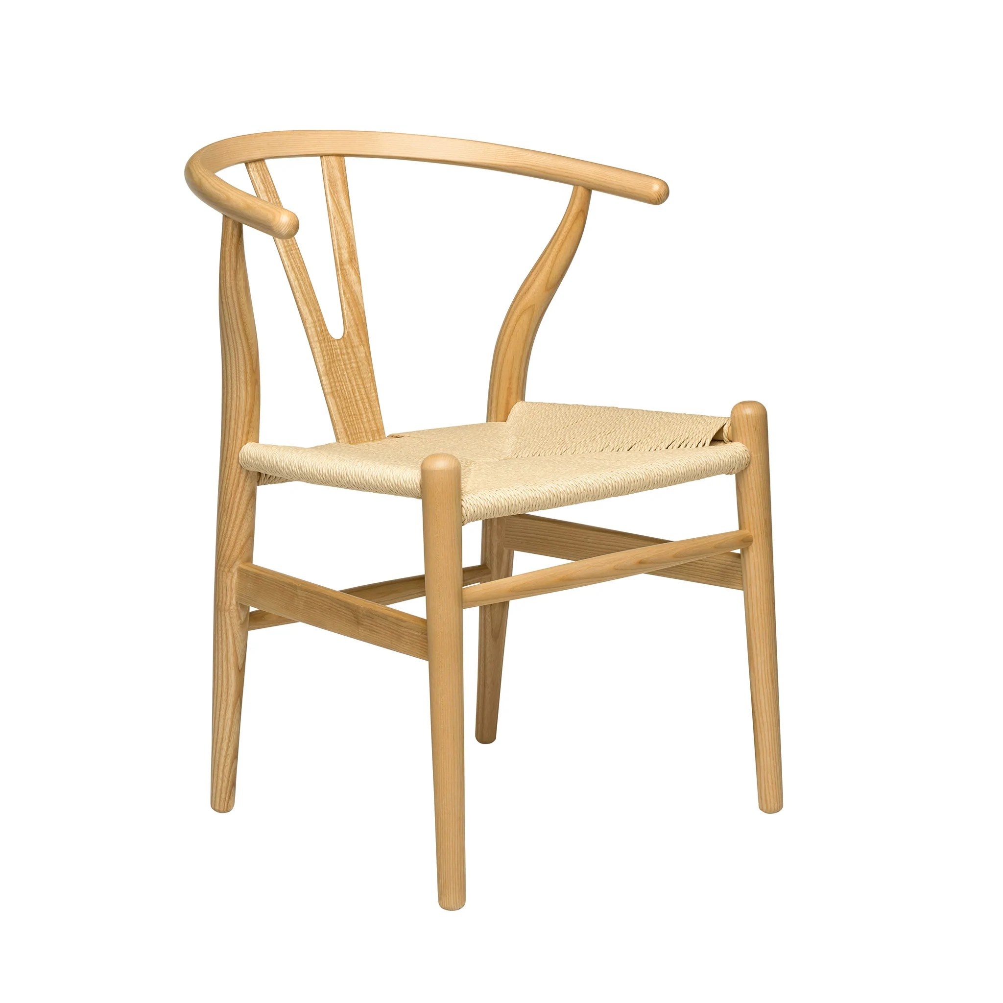wishbone chairs modern black chair ash woven cord