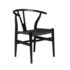 Eames Management Chair Replica Patio Covers Calgary Wishbone (black/black Woven Cord)