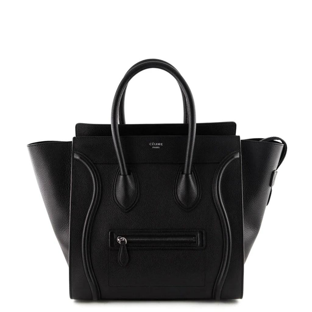 Celine Black Calfskin Mini Luggage Tote - Authentic Celine Bags Canada