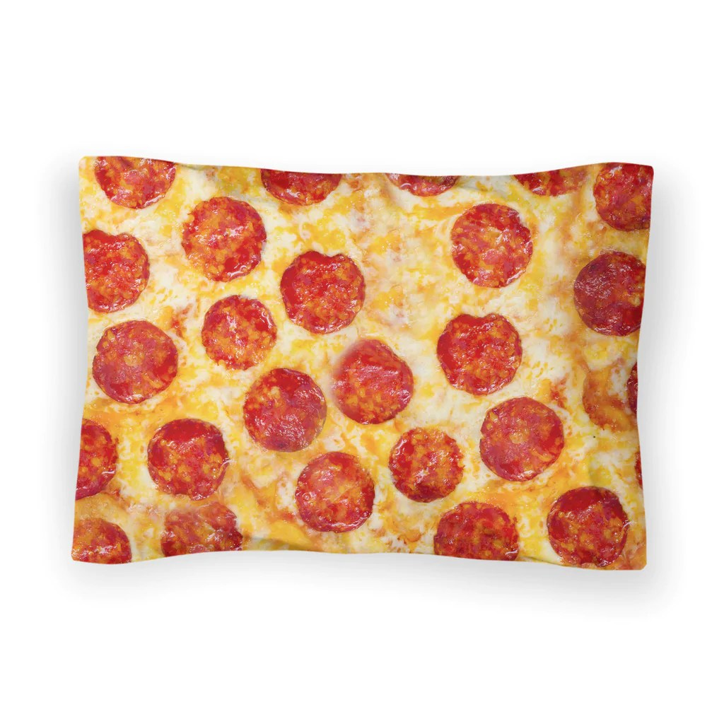 pizza invasion bed pillow