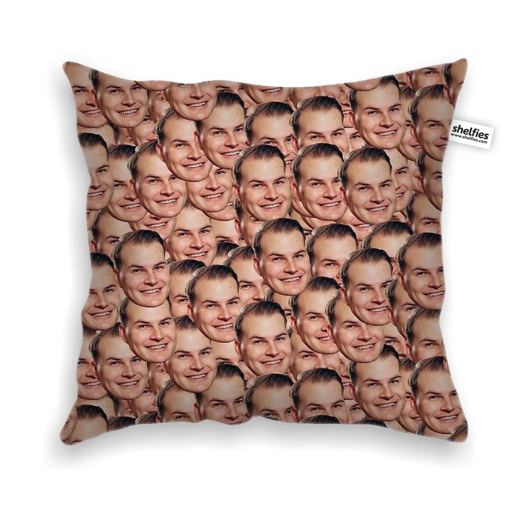 your face custom throw pillow case
