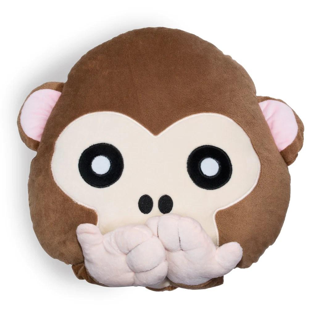 Monkey Emoji Pillow  Shelfies