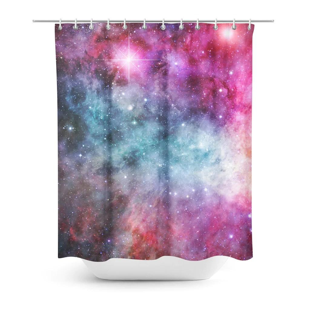 galaxy love shower curtain