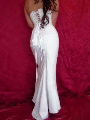 White Leather Hayworth Wedding Dress White Leather dress