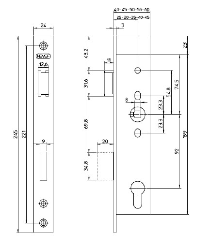 mortise lock parts diagram strat wiring hss nemef 9600 narrow-style sash | aluspec - architectural hardware for aluminium doors & windows