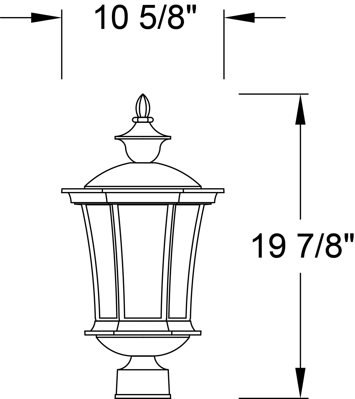 Gb40 Snoc Westminster Collection Outdoor Large Post Mount