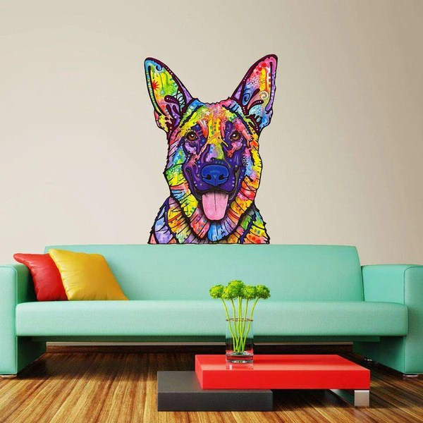 Dogs Never Lie German Shepherd Wall Decal Cut Out  Animal