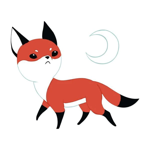 Create Quote Wallpaper Fox Anime Art Wall Decal Moon Fox By Indre Bankauskaite