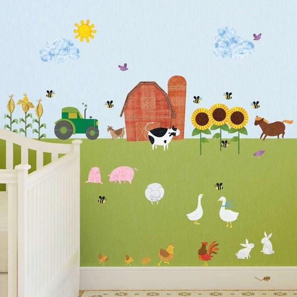 Farm Wall Decals  Peel  Stick Farm Theme Wall Mural