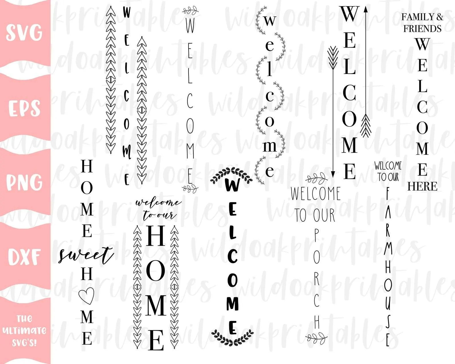It's not spring, but i want the holiday decor put away. 10 Porch Signs Svg Bundle Porch Bundle Signs Svg Welcome Porch Sign Svg Farmhouse Sign Svg Home Sweet Home Sign Svg Welcome Sign Svg So Fontsy