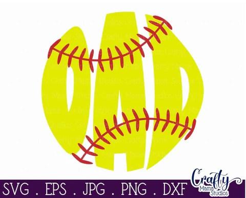I love softball svg art word sentence. Softball Svg Softball Dad Svg So Fontsy